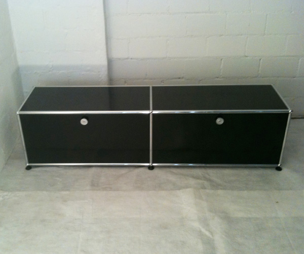 USM Lowboard, Fernsehmöbel, schwarz
