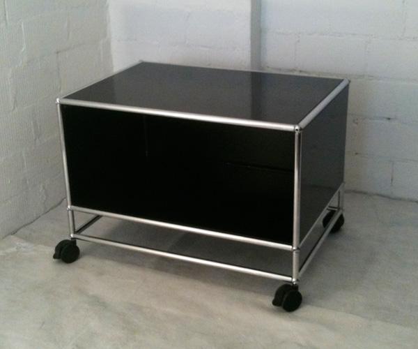 Occasion USM Lowboard, Fernsehmöbel, schwarz