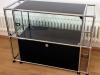 Occasion USM Highboard mit Auszug und Vitrine, schwarz